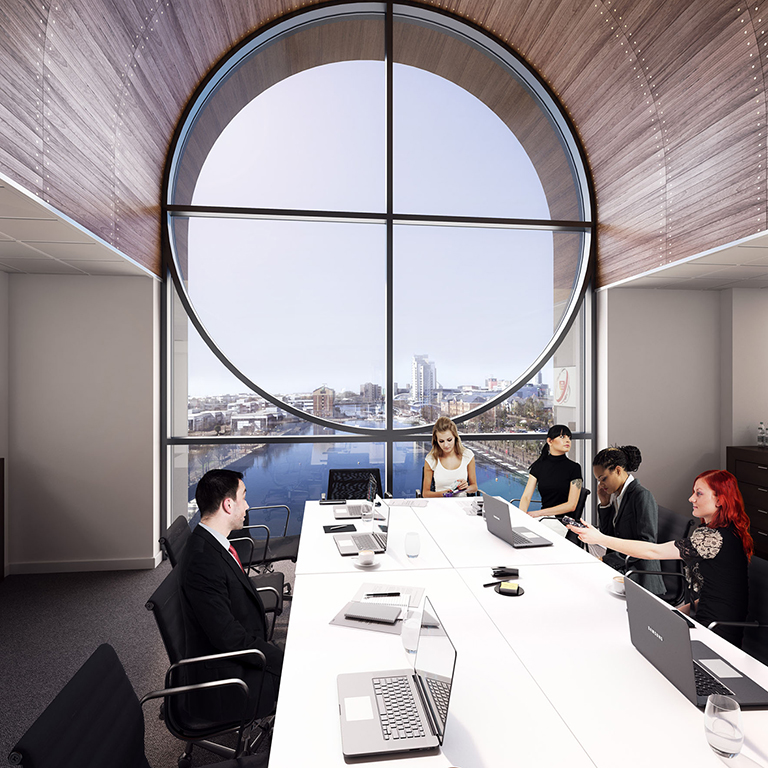 And image relating to this case study about 'Voyager Building, Salford Quays'